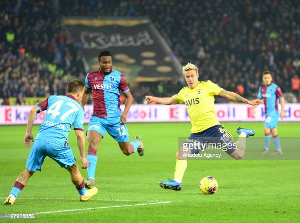 Max Kruse of Fenerbahce in action during Turkish Super Lig soccer match between Trabzonspor and Fenerbahce in Trabzon Turkey on February 1 2020