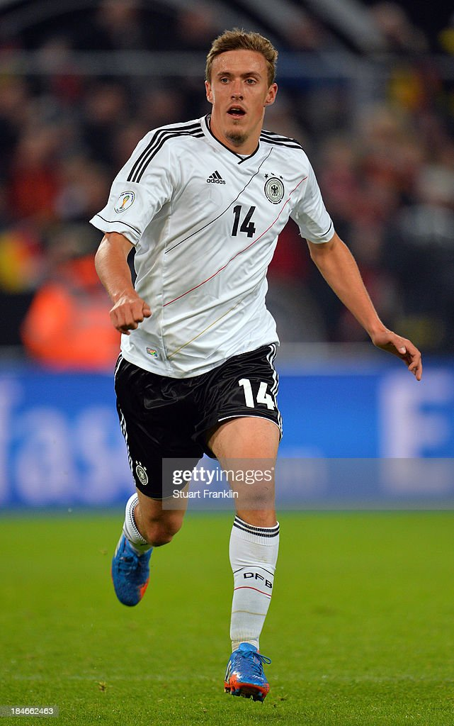 Max Kruse of Germany in action during the FIFA world Cup 2014 qualification match between Germany and Republic of Ireland at the Rheinenergy stadium on October 11, 2013 in Cologne, Germany.