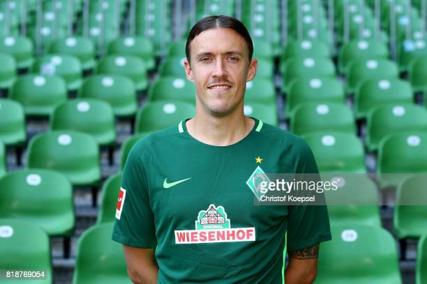 Max Kruse of Werder Bremen poses during the team presentation at Weser Stadium on July 19 2017 in Bremen Germany