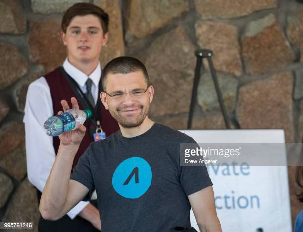Max Levchin cofounder of PayPal and chief executive officer of financial technology company Affirm arrives at the Sun Valley Resort for the annual...