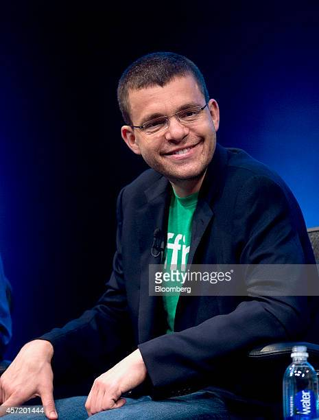Max Levchin, co-founder of PayPal Inc. And chairman of Kaggle Inc., smiles during a panel discussion at the DreamForce Conference in San Francisco,...