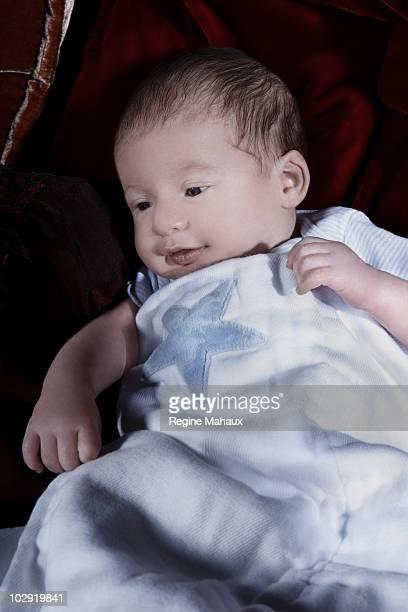 Max Liron Bratman the son of Christina Aguilera and her husband Jordan Bratman at home on February 9 2008 in Los Angeles California