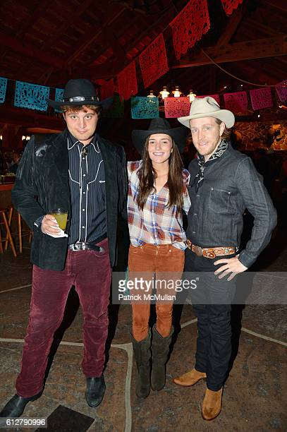 Max Loeb Kick Kennedy and Ken Howery attend Hearst Castle Preservation Foundation Annual Benefit Weekend 2016 Hearst Ranch Patron Cowboy Cookout at...