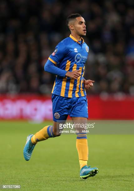Max Lowe of Shrewsbury Town during the Emirates FA Cup Third Round Repaly match between West Ham United and Shrewsbury Town at London Stadium on...