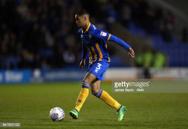 Max Lowe of Shrewsbury Town during the Sky Bet League One match between Shrewsbury Town and Charlton Athletic at New Meadow on November 11 2017 in...