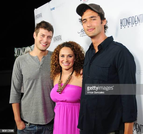 Max Lugavere, Sari Tuschman and Jason Silva arrive at Los Angeles Confidential magazine's annual pre-Emmy party, hosted by Heidi Klum and Niche Media...