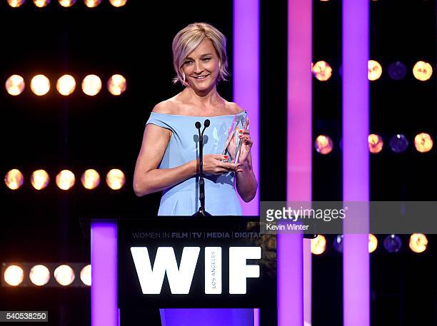 Max Mara Brand Ambassador Nicola Maramotti speaks onstage at the Women In Film 2016 Crystal Lucy Awards Presented by Max Mara and BMW at The Beverly...