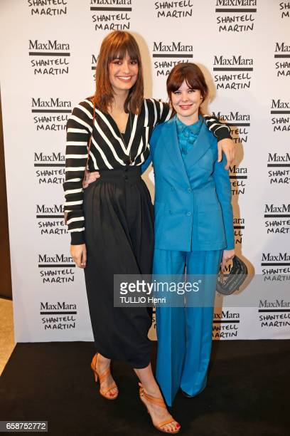 Max Mara cocktail at the parisian shop rue SaintHonoré for their glasses collection Prism in Motion by Shantell Martin in Paris on March 02 2017...