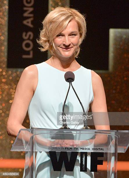 Max Mara Global Brand Ambassador Nicola Maramotti speaks onstage at Women In Film 2014 Crystal Lucy Awards presented by MaxMara BMW PerrierJouet and...