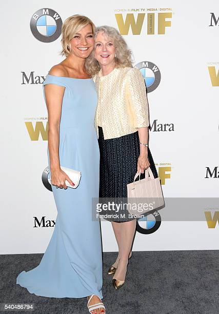 Max Mara Ownership and Brand Ambassador Nicola Maramotti and actress Blythe Danner attend Women In Film 2016 Crystal Lucy Awards Presented by Max...