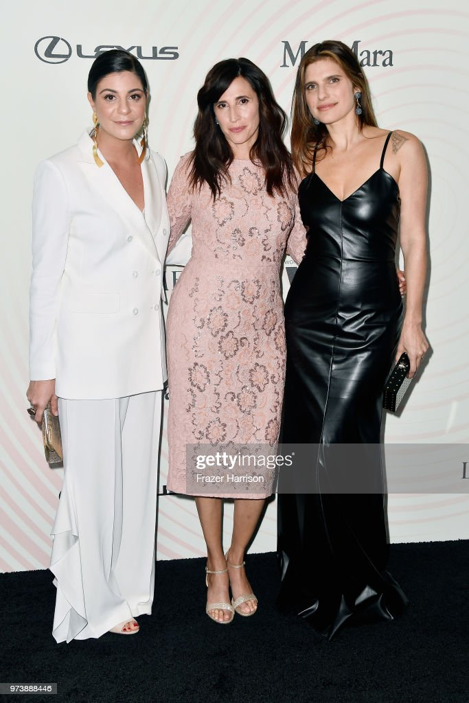 Max Mara Vice President US Retail and Global Brand Ambassador Maria Giulia Maramotti, Michaela Watkins and Lake Bell, wearing Max Mara, attend the Women In Film 2018 Crystal + Lucy Awards presented by Max Mara, Lancôme and Lexus at The Beverly Hilton Hotel on June 13, 2018 in Beverly Hills, California.