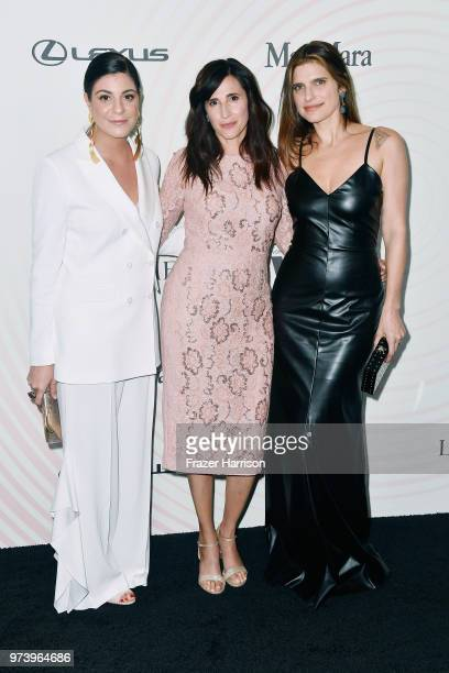 Max Mara Vice President US Retail and Global Brand Ambassador Maria Giulia Maramotti Michaela Watkins and Lake Bell wearing Max Mara attend the Women...