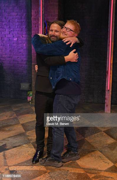 Max Martin and Ed Sheeran attend the press night performance of Juliet at Shaftesbury Theatre on November 20 2019 in London England