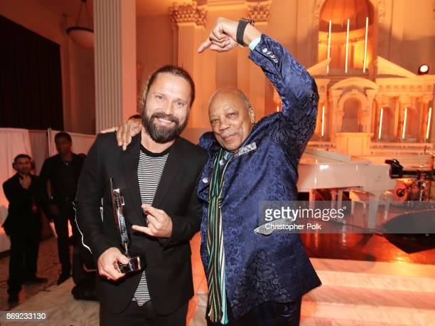 Max Martin and Quincy Jones attend Spotify's Inaugural Secret Genius Awards hosted by Lizzo at Vibiana on November 1 2017 in Los Angeles California