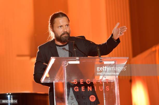 Max Martin attends Spotify's Inaugural Secret Genius Awards hosted by Lizzo at Vibiana on November 1 2017 in Los Angeles California