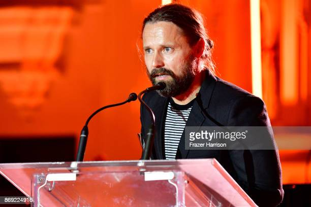 Max Martin speaks onstage during Spotify's Inaugural Secret Genius Awards hosted by Lizzo at Vibiana on November 1 2017 in Los Angeles California