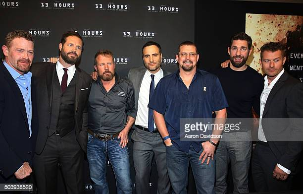 Max Martini David Denman Mark 'Oz' Geist Dominic Fumusa ' John 'Tig' Tiegen John Krasinski James Badge Dale attends Miami Special Screening of '13...