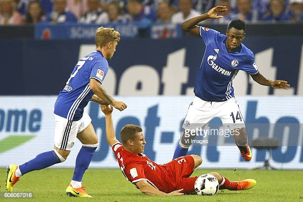 Max Meyer Joshua Kimmich Abdul Rahman Baba during the Bundesliga match between Schalke 04 and Bayern Munich on september 9 2016 at the VELTINSArena...