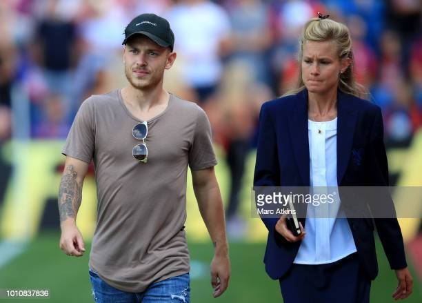 Max Meyer of Crystal Palace during the PreSeason Friendly between Crystal Palace and Toulouse at Selhurst Park on August 4 2018 in London England