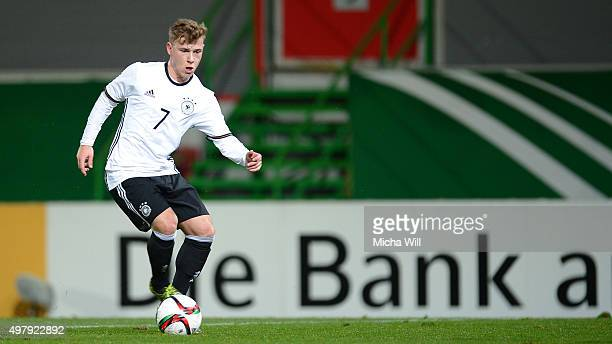 Max Meyer of Germany controls the ball during the 2017 UEFA European U21 Championships Qualifier between U21 Germany and U21 Austria at Stadion am...