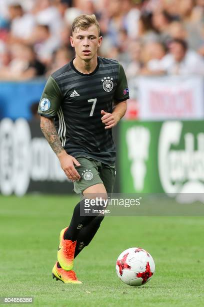 Max Meyer of Germany in action during the UEFA European Under21 Championship Semi Final match between England and Germany at Tychy Stadium on June 27...