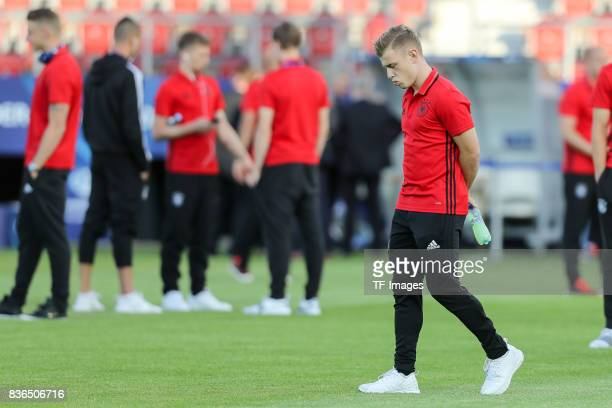 Max Meyer of Germany looks on during the UEFA U21 Final match between Germany and Spain at Krakow Stadium on June 30 2017 in Krakow Poland