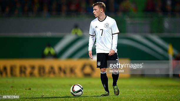 Max Meyer of Germany reacts during the 2017 UEFA European U21 Championships Qualifier between U21 Germany and U21 Austria at Stadion am Laubenweg on...