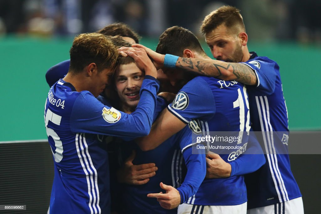 FC Schalke 04 v 1. FC Koeln - DFB Cup : News Photo