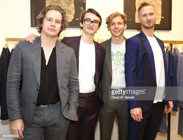 Max Michael Helyer Isaac Hempstead Wright Joe Falconer and Sam Rourke attend the Paul Smith x Tom Hingston 'Progress' collaboration launch party at...