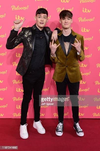 Max Mills and Harvey Mills attends the ITV Palooza 2019 at the Royal Festival Hall on November 12 2019 in London England
