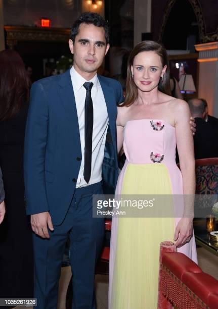 Max Minghella and Alexis Bledel attend Hulu's 2018 Emmy Party at Nomad Hotel Los Angeles on September 17 2018 in Los Angeles California
