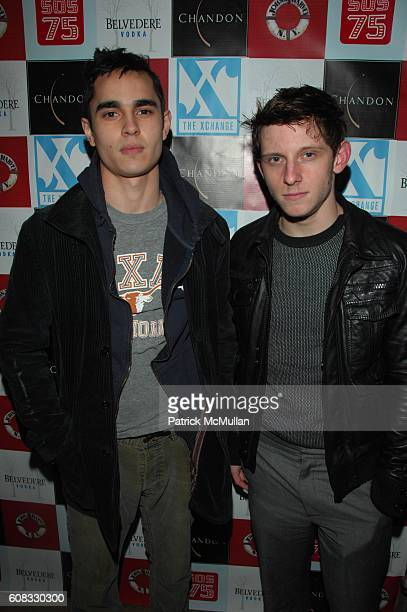 Max Minghella and Jamie Bell attend John J Harvey Fireboat Benefit at The XCHANGE NYC on March 19 2007 in New York City