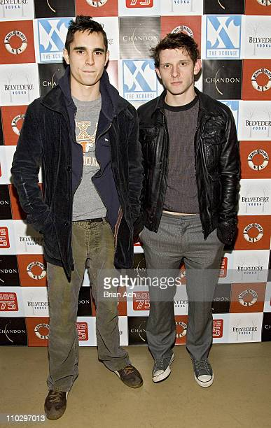 Max Minghella and Jamie Bell during 75th Anniversary of John J Harvey Fireboat Benefit Gala at The XChange in New York City New York United States
