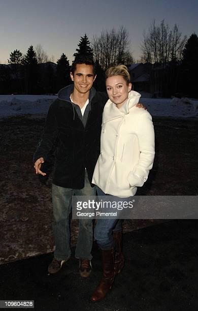 Max Minghella and Sophia Myles during 2006 Sundance Film Festival Art School Confidential Premiere at Eccles in Park City Utah United States