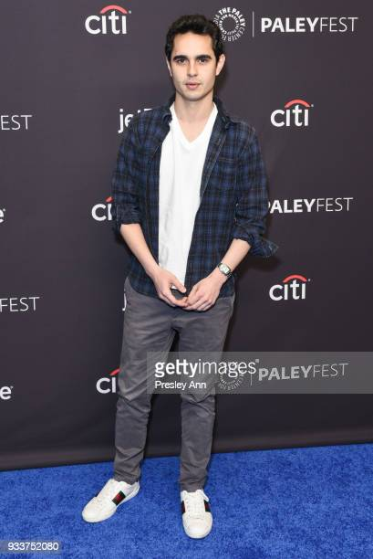 Max Minghella attends PaleyFest Los Angeles 2018 The Handmaid's Tale at Dolby Theatre on March 18 2018 in Hollywood California