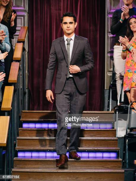 Max Minghella greets the audience during The Late Late Show with James Corden Tuesday April 25 2017 On The CBS Television Network