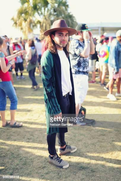 Max Movish is seen wearing adidas around Coachella on April 13 2018 in Indio California