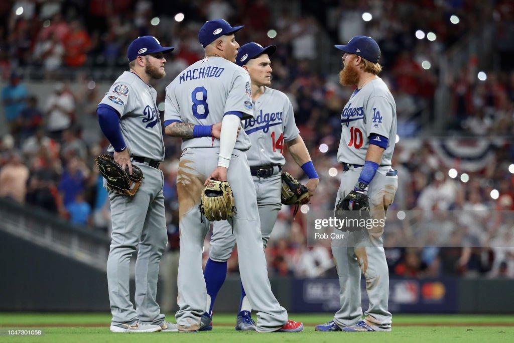 Divisional Round - Los Angeles Dodgers v Atlanta Braves - Game Three : News Photo