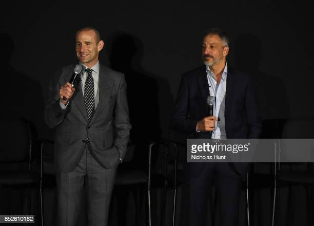 Max Mutchnick and David Kohan speak at the Tribeca TV Festival exclusive celebration for Will Grace at Cinepolis Chelsea on September 23 2017 in New...