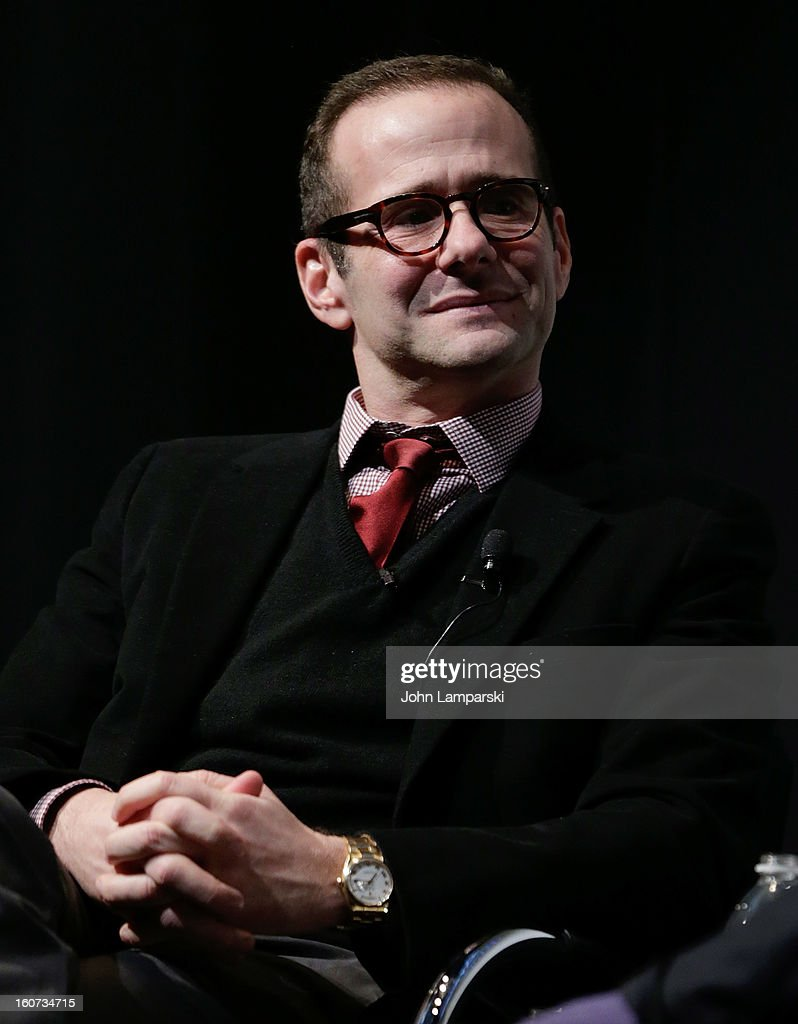 Max Mutchnick attends Same-Sex Marriage: Law & Culture Press Conference With Debra Messing at Time Warner Screening Room on February 4, 2013 in New York City.