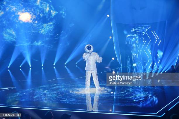 Max Mutzke performs during the The Masked Singer finals at Coloneum on August 01 2019 in Cologne Germany