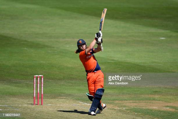 Max O'Dowd of Netherlands bats during a T20 Friendly match between Glamorgan and Netherlands at Sophia Gardens on July 04, 2019 in Cardiff, Wales.