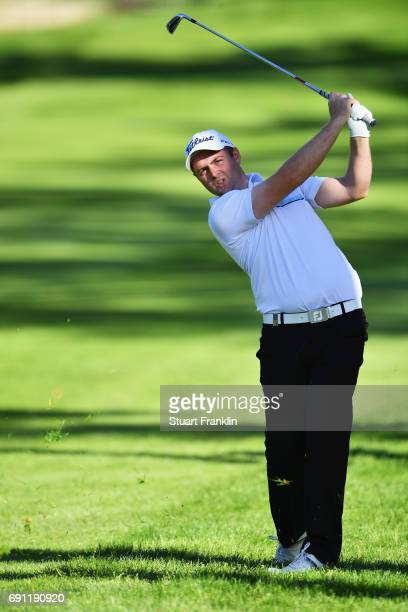 Max Orrin of England hits an iron during day one of the Nordea Masters at Barseback Golf Country Club on June 1 2017 in Barsebackshamn Sweden