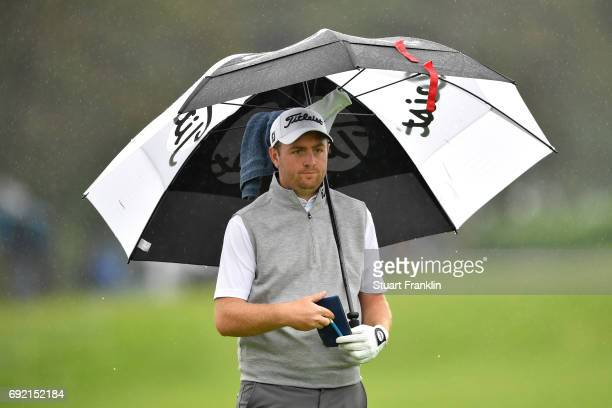 Max Orrin of England looks on during day four of the Nordea Masters at Barseback Golf Country Club on June 4 2017 in Barsebackshamn Sweden