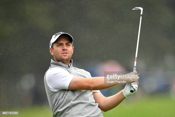 Max Orrin of England plays a shot from the rough during day four of the Nordea Masters at Barseback Golf Country Club on June 4 2017 in...