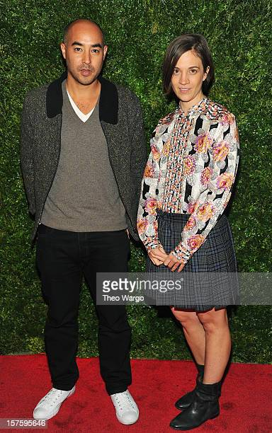 Max Osterweis and Erin Beatty attend HBO's In Vogue The Editor's Eye screening at Metropolitan Museum of Art on December 4 2012 in New York City