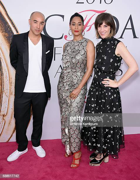 Max Osterweis, Tracy Ellis Ross, and guest attend the 2016 CFDA Fashion Awards at the Hammerstein Ballroom on June 6, 2016 in New York City.