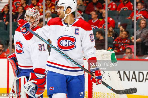 Max Pacioretty  #67 and Carey Price of the Montreal Canadiens in a game against the Montreal Canadiens on December 22 2017 at the Scotiabank...