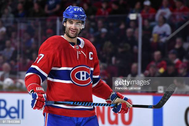 Max Pacioretty of the Montreal Canadiens during the NHL game against the Anaheim Ducks in the NHL game at the Bell Centre on February 3 2018 in...