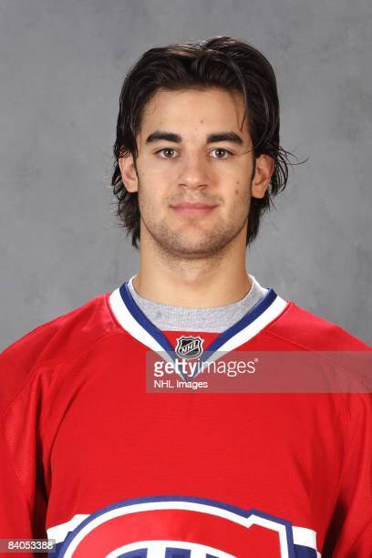 Max Pacioretty of the Montreal Canadiens poses for his official headshot for the 20082009 NHL season